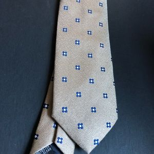 handmade Accessories - Men's tan and blue polyester tie